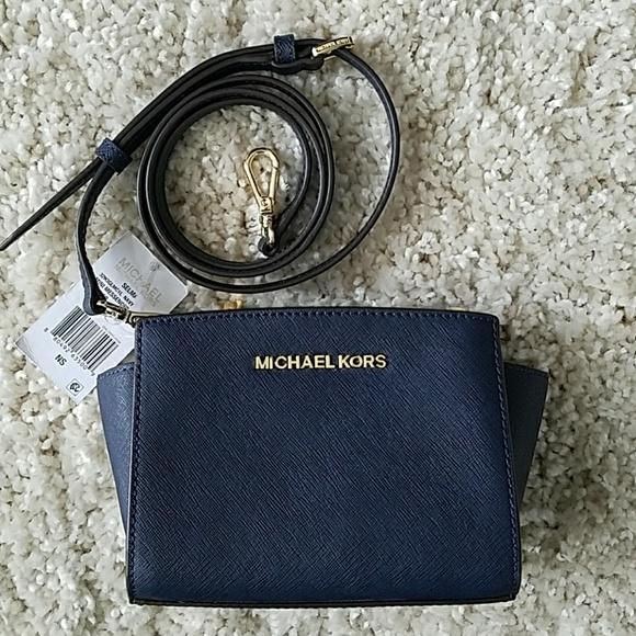 39c34073a4f6 ... free shipping handbag michael kors selma mini crossbody nwt f6fc4 36236